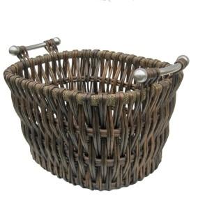 Gallery Bampton Willow Log Basket, 14 H x 22 W x 17 D