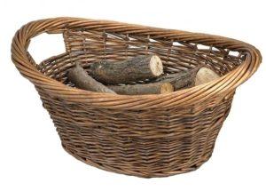 Gallery Cradle Willow Log Basket, 11 H x 24  W x 19 D
